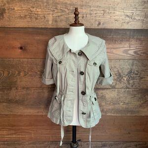 Loft Khaki Short Sleeve Jacket